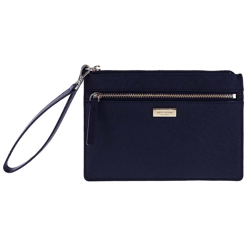 Kate Spade Laurel Way Tinie Wristlet Offshore Navy # WLRU2677