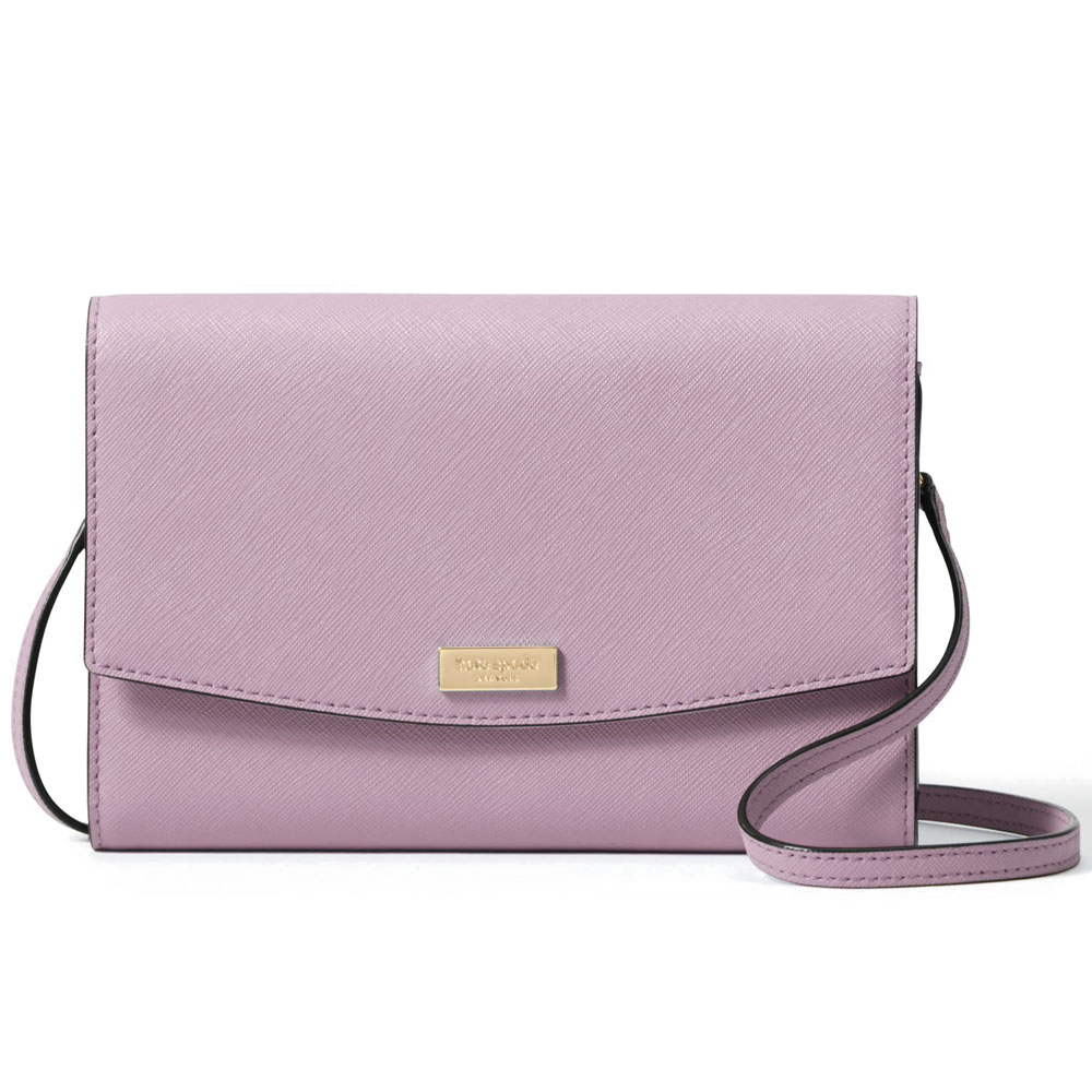Kate Spade Laurel Way Winni Wallet Crossbody Bag Lilac Petal Purple # WLRU2667