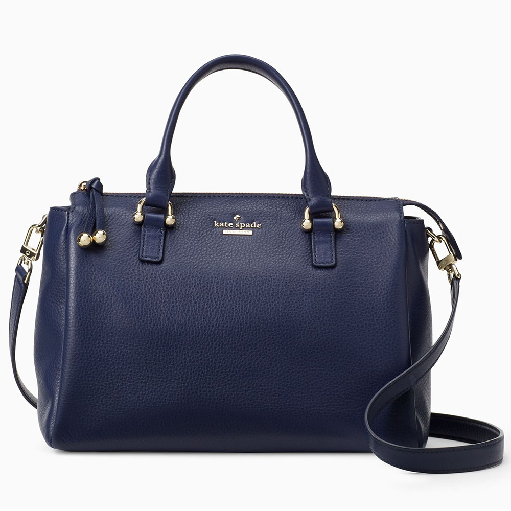 Kate Spade Lombard Street Bradie Crossbody Bag Navy Blue # PXRU7610