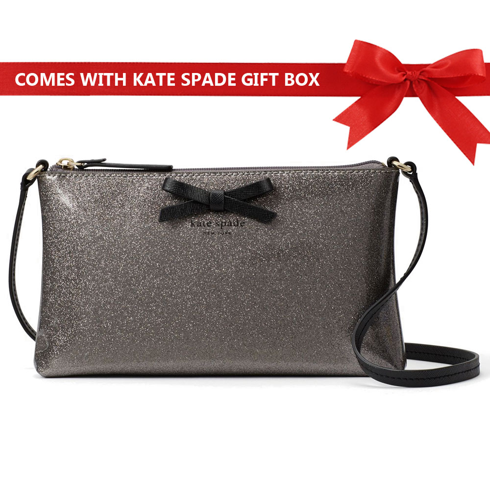 Kate Spade Mavis Street Amy Crossbody Bag Anthracite Silver # WKRU3540