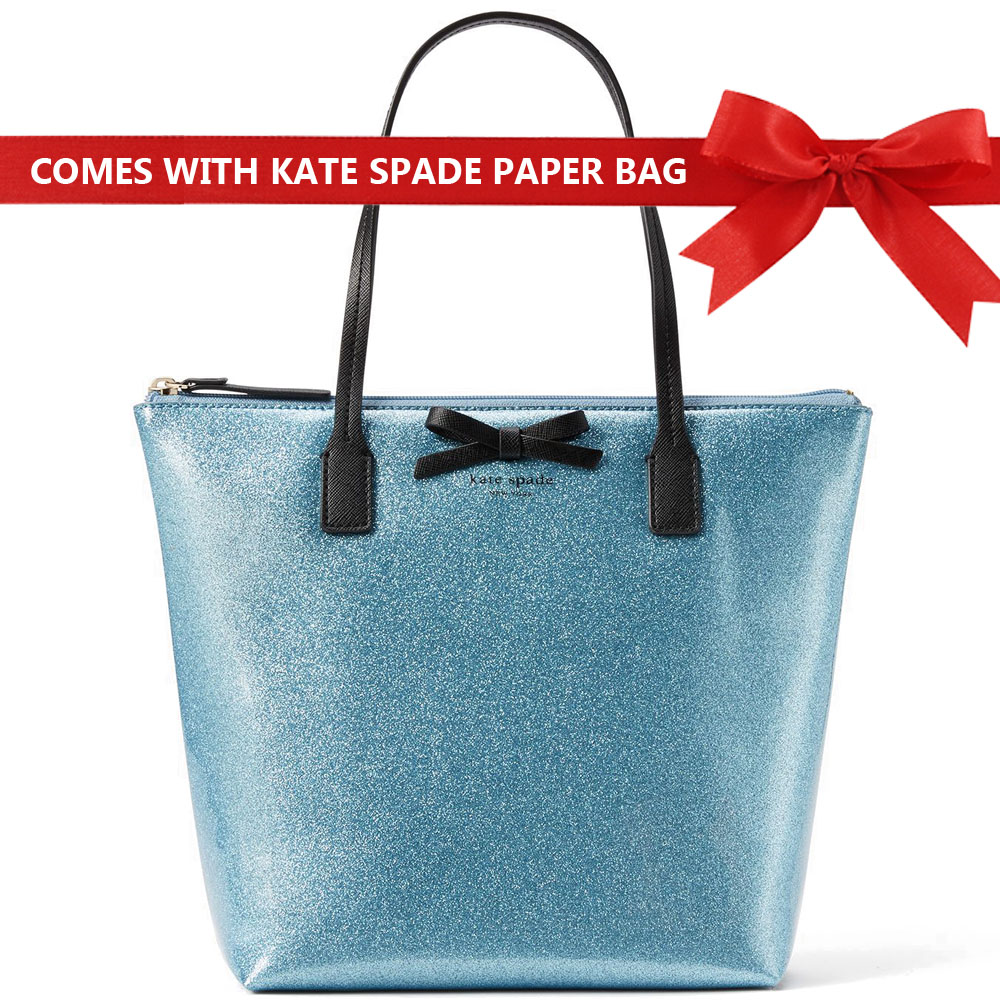 Kate Spade Mavis Street Jeralyn Tote Shoulder Bag Lakesedge Blue Glitter # WKRU3579