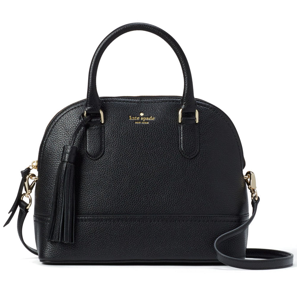 Kate Spade Mccall Street Carli Satchel Crossbody Bag Black # WKRU4438