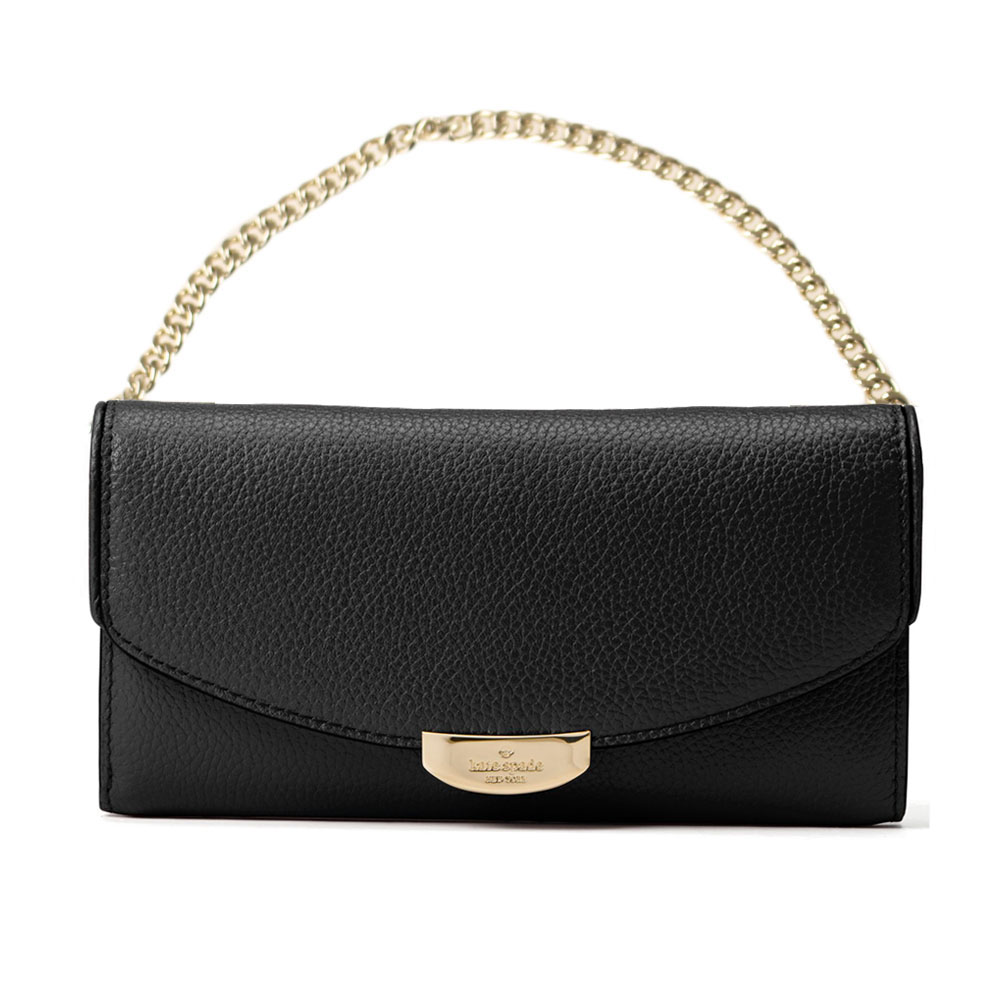 Kate Spade Mulberry Street Milou Chain Bag Wristlet Black # WLRU4872