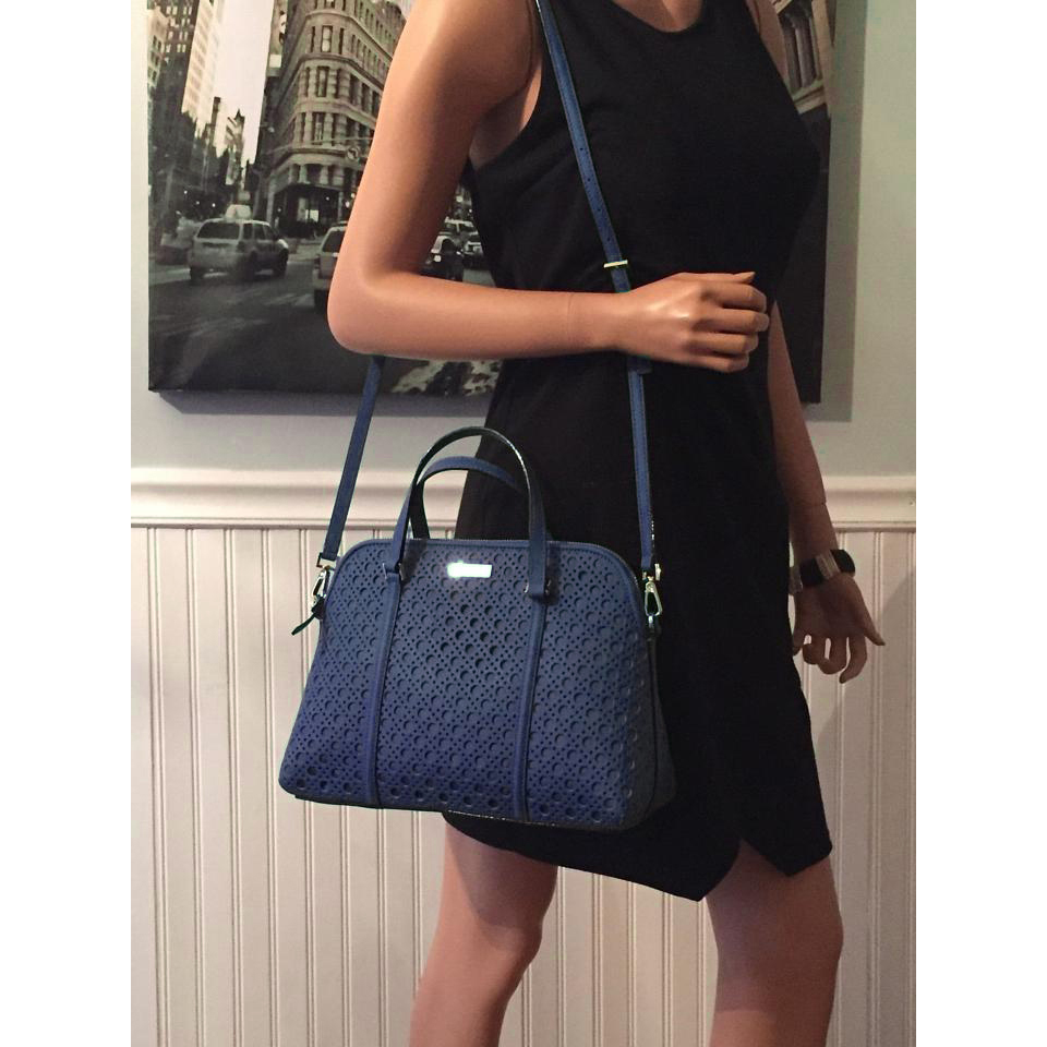 Kate Spade Newbury Lane Caning Small Rachelle French Navy # WKRU3659