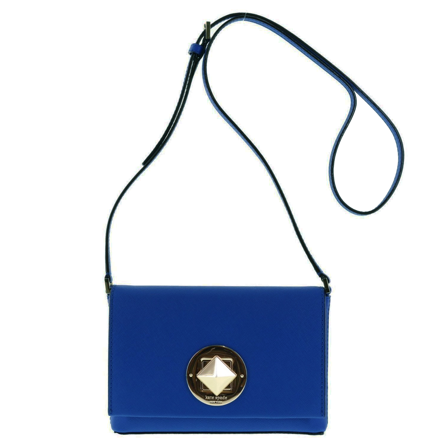 Kate Spade Newbury Lane Sally Saffiano Crossbody Bag Hyacinth Blue # WKRU3430