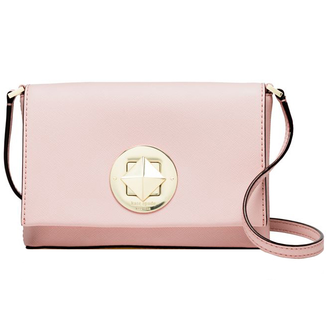 Kate Spade Newbury Lane Sally Saffiano Crossbody Ballet Slipper Pink # WKRU3430