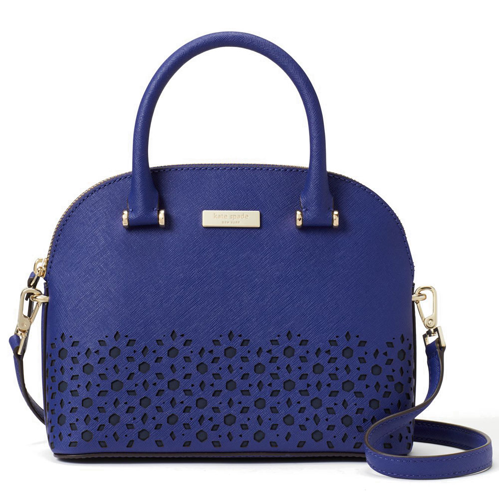 Kate Spade Newman Drive Mini Carli Dome Satchel Crossbody Bag Asilah Blue # WKRU5223