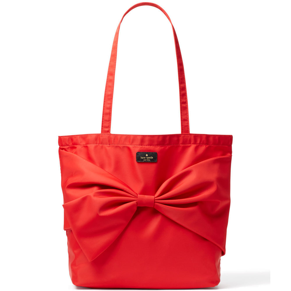 Kate Spade On Purpose Nylon Tote Cherryliqueur # UVRU0128