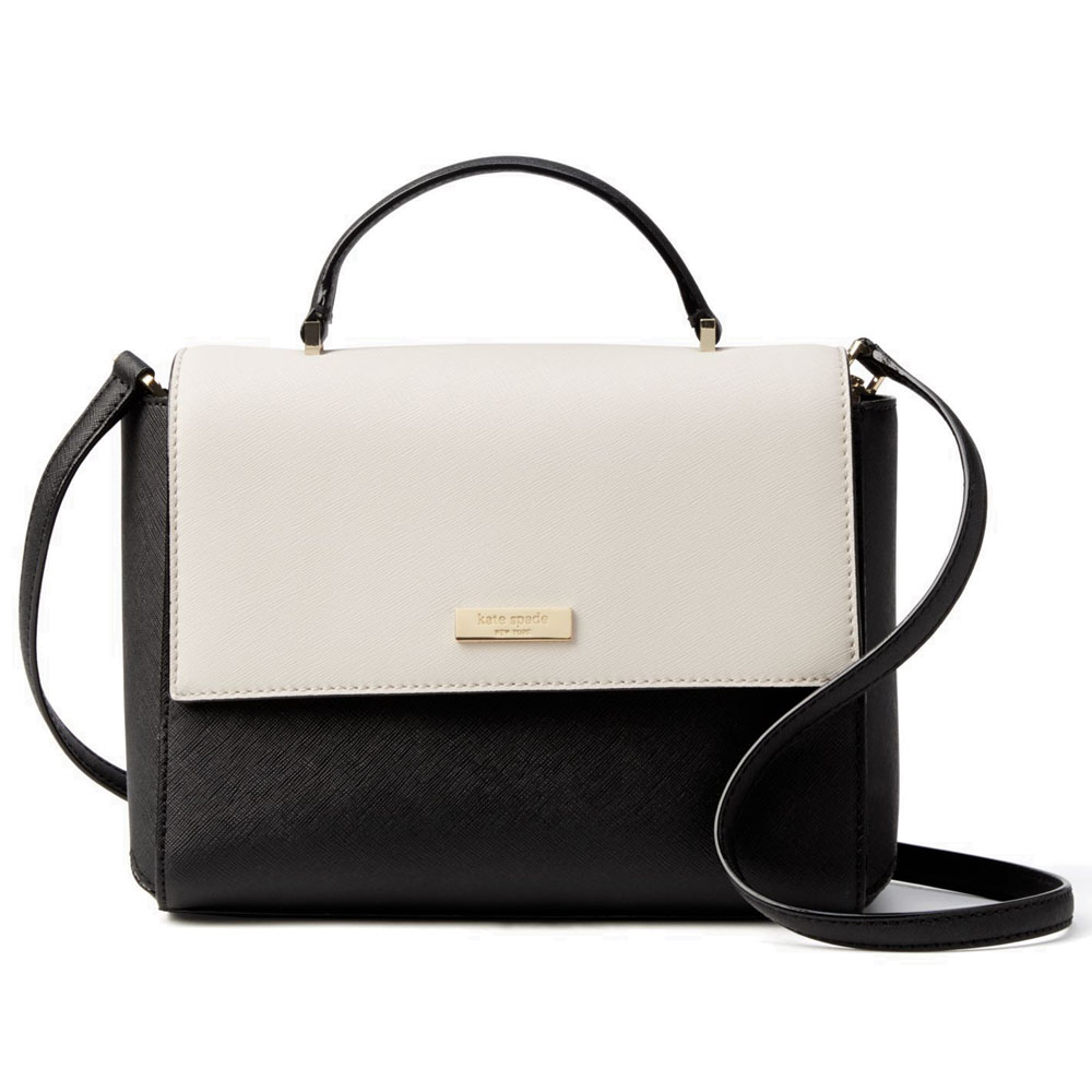 Kate Spade Paterson Court Brynlee Crossbody Bag Black / Pebble Cream # WKRU3877
