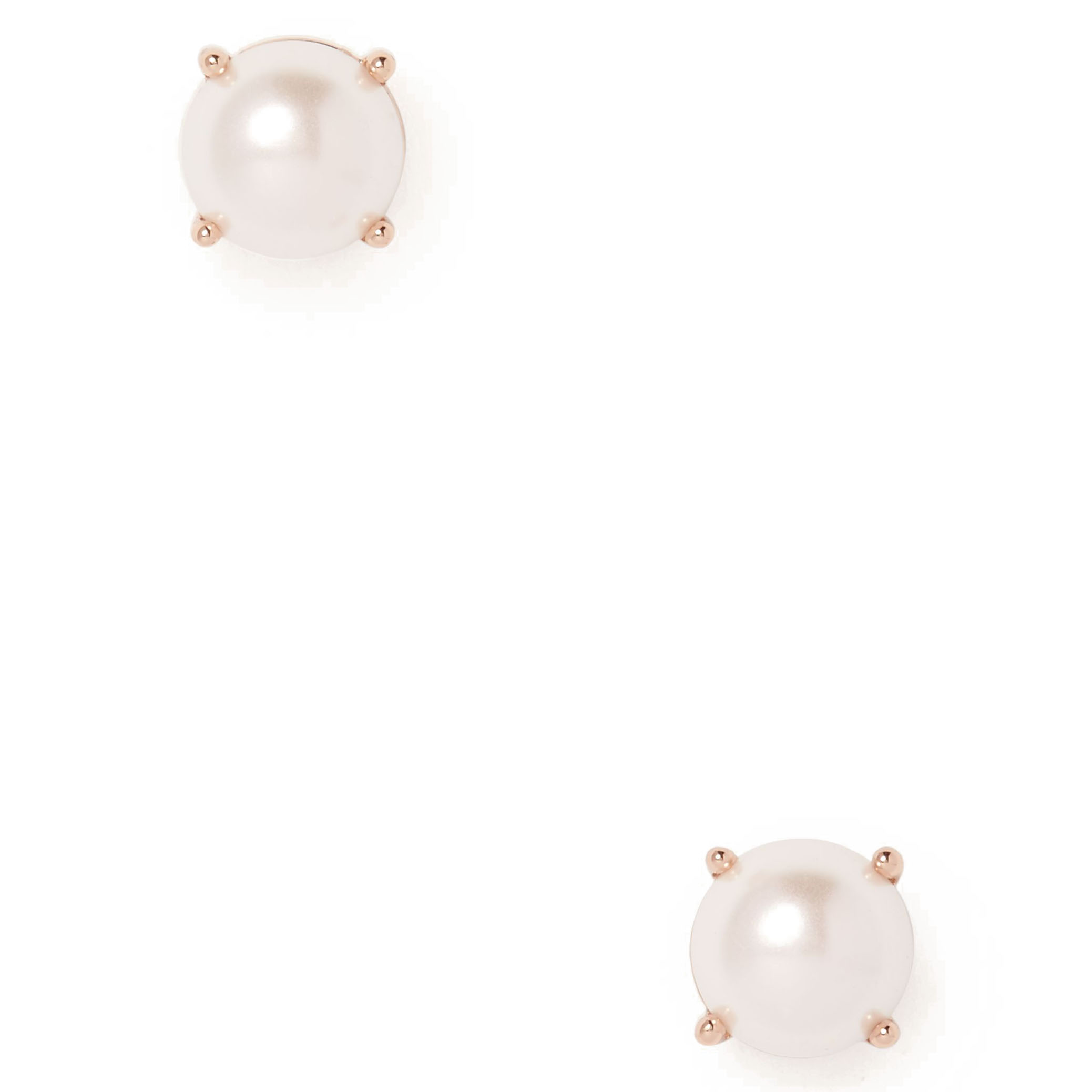 amp stud icing earrings and white front shaker faux us back bead pearl