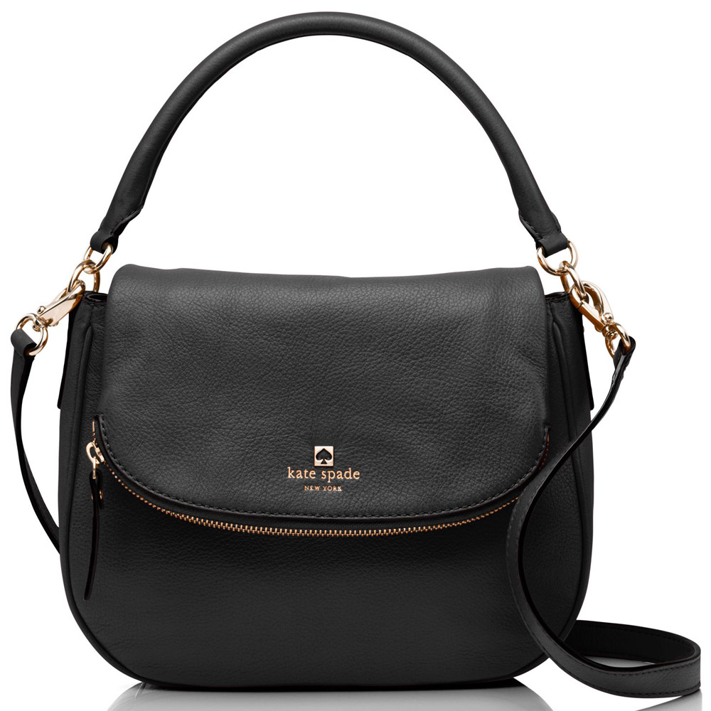 Kate Spade Pine Street Small Devin Crossbody Bag Black # WKRU3851