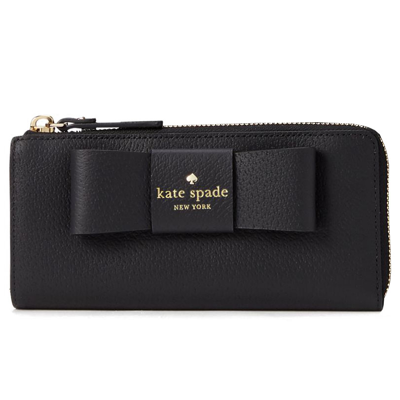 Kate Spade Robinson Street Nisha Zip Around Continental Wallet Black # WKRU4926W