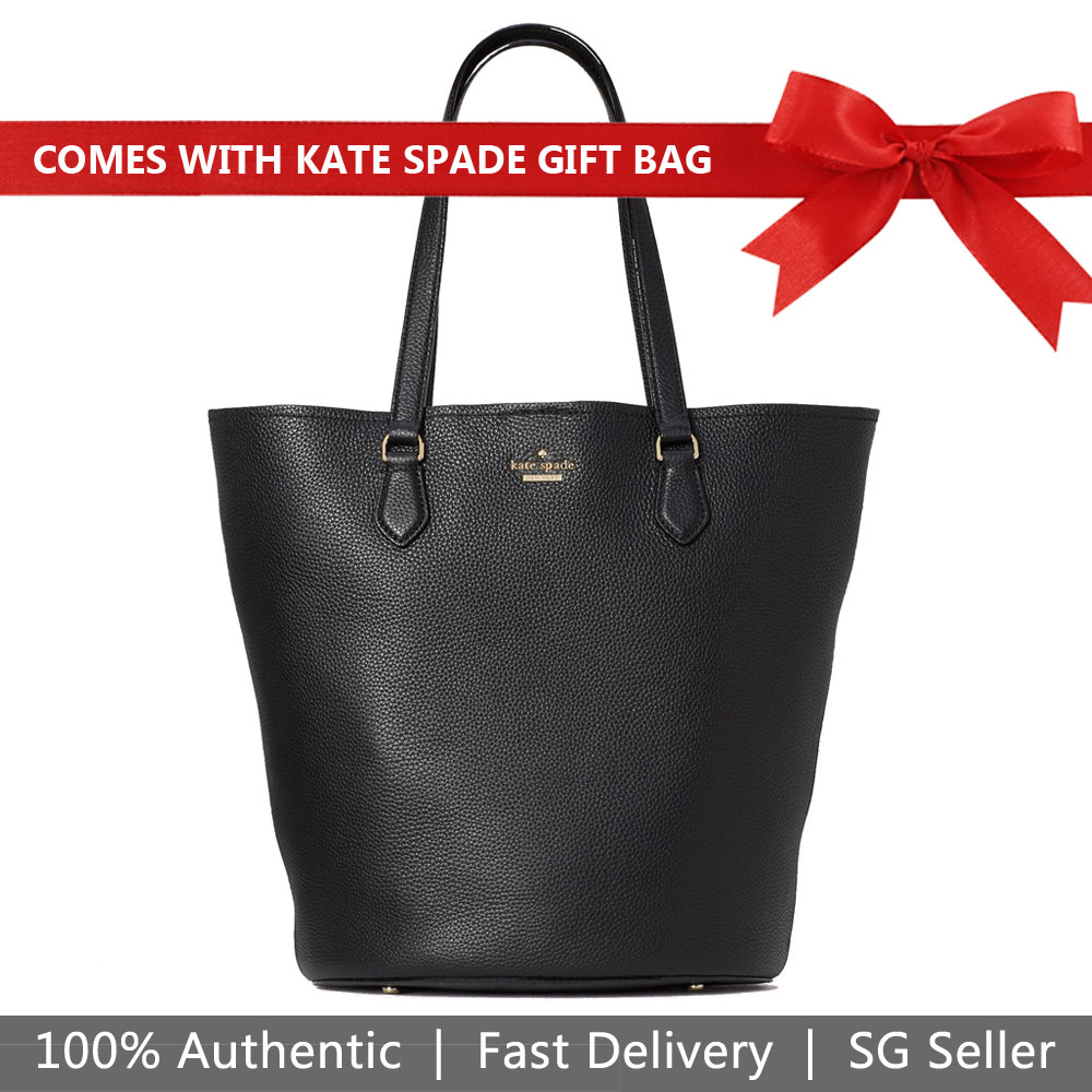Kate Spade Shoulder Bag Tote With Gift Bag Jackson Street Kristine Black # PXRU9420