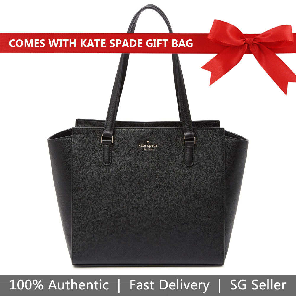 Kate Spade Shoulder Bag With Gift Bag Jackson Medium Tote Black # WKRU5944