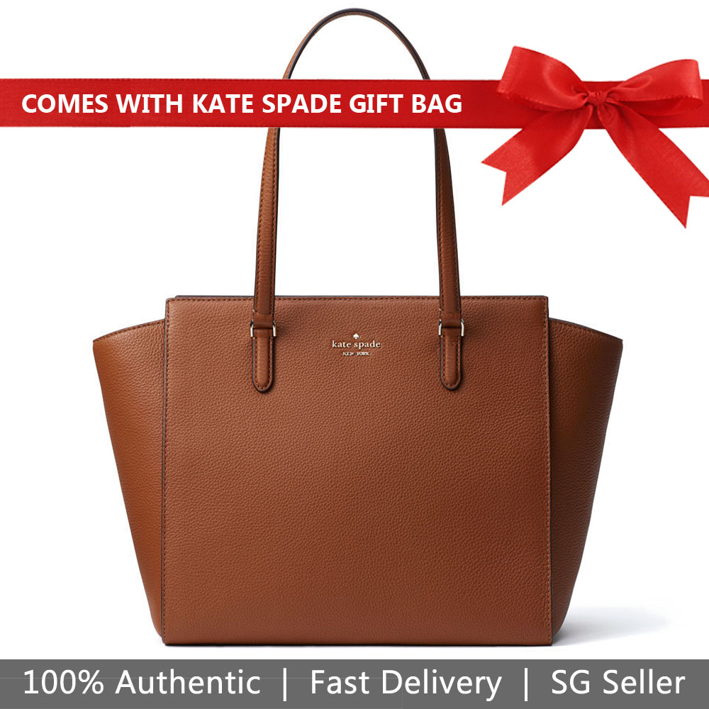 Kate Spade Shoulder Bag With Gift Bag Jackson Medium Tote Warm Gingerbread Brown # WKRU5944