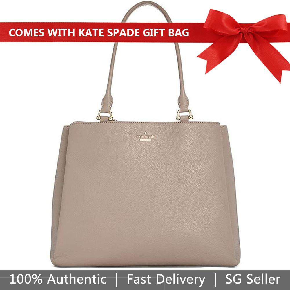 Kate Spade Shoulder Bag With Gift Bag Lombard Street Neve City Scape Grey # PXRU7613