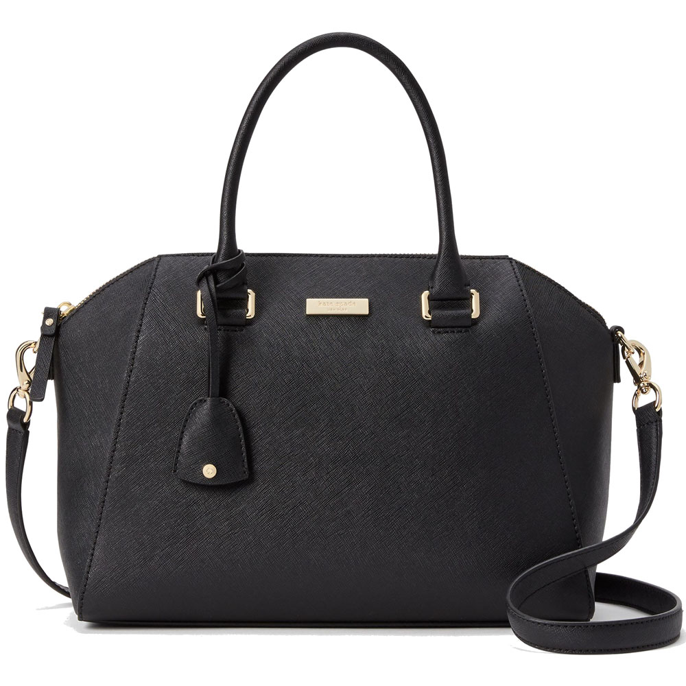 Kate Spade Tilden Place Pippa Satchel Crossbody Bag Black # WKRU4878