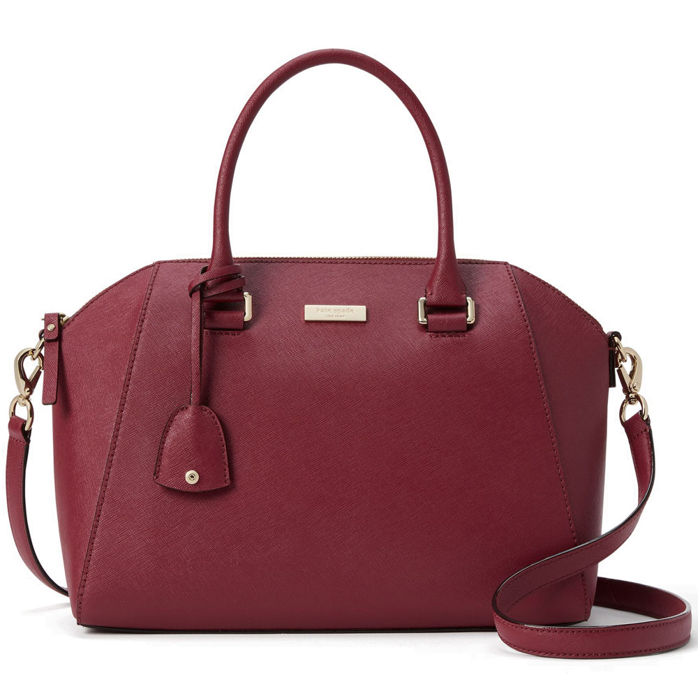Kate Spade Tilden Place Pippa Satchel Crossbody Bag Rioja Red # WKRU4878
