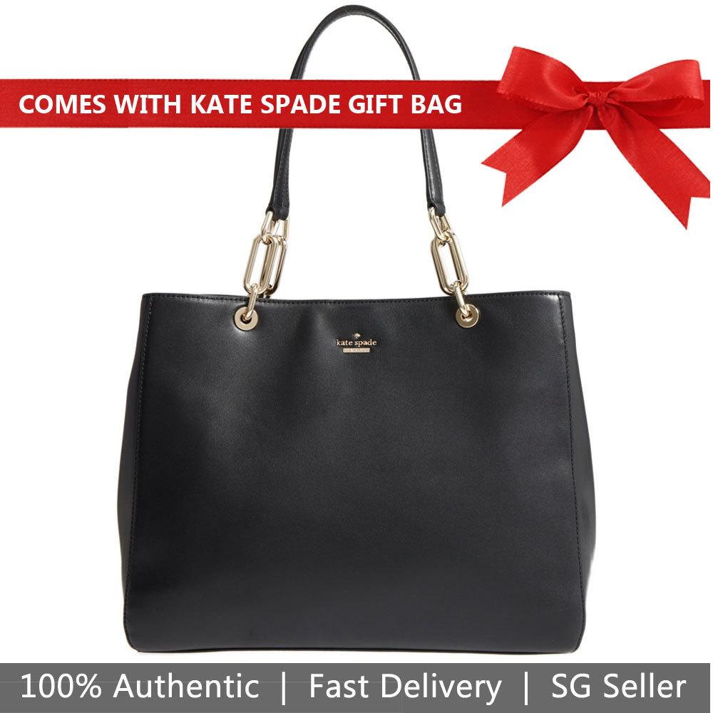 Kate Spade Tote With Gift Bag Robson Lane Kellen Black # PXRU8126