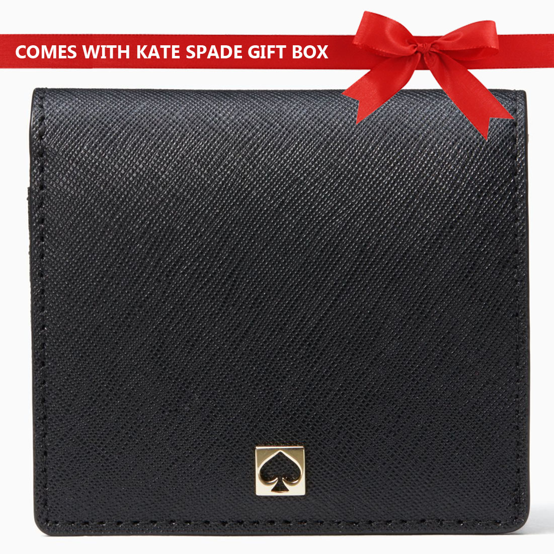 Kate Spade Wallet In Gift Box Cove Street Serenade Small Wallet Black # WLRU4958