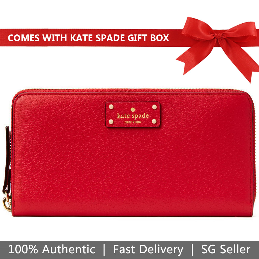 Kate Spade Wallet In Gift Box Grove Street Neda Red Carpet # WLRU2820