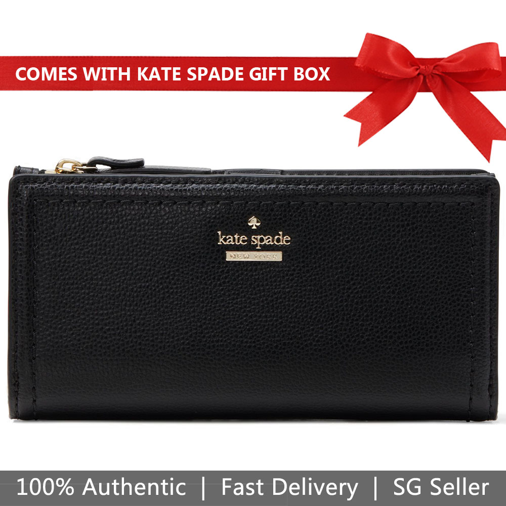 Kate Spade Wallet In Gift Box Patterson Drive Braylon Black # WLRU4830