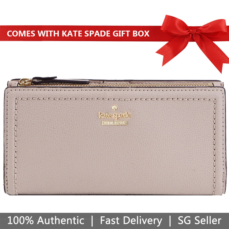 Kate Spade Wallet In Gift Box Patterson Drive Braylon Warm Beige Nude # WLRU5219