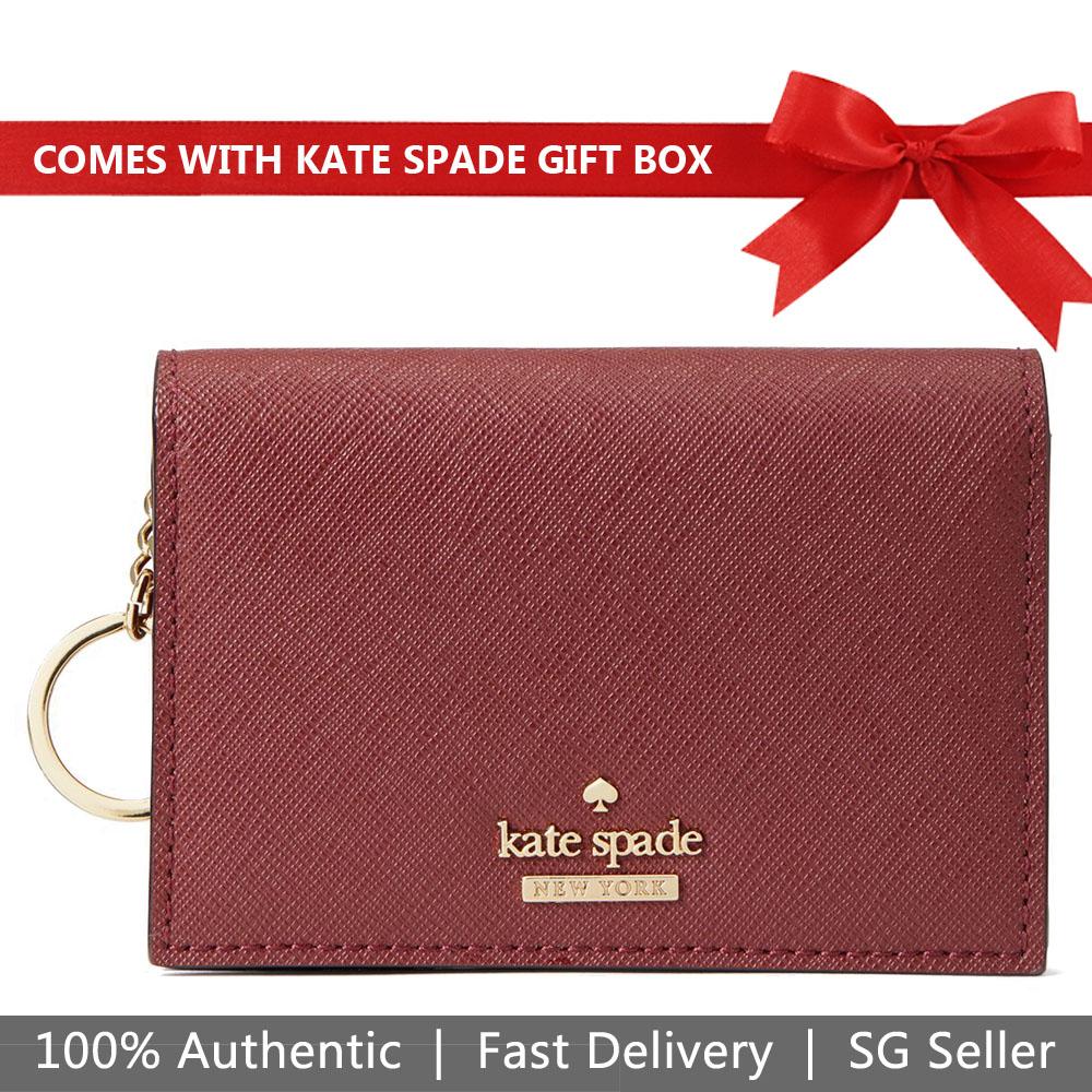 Kate Spade Wallet In Gift Box Small Wallet Cameron Street Gabe Sienna Red # PWRU6437