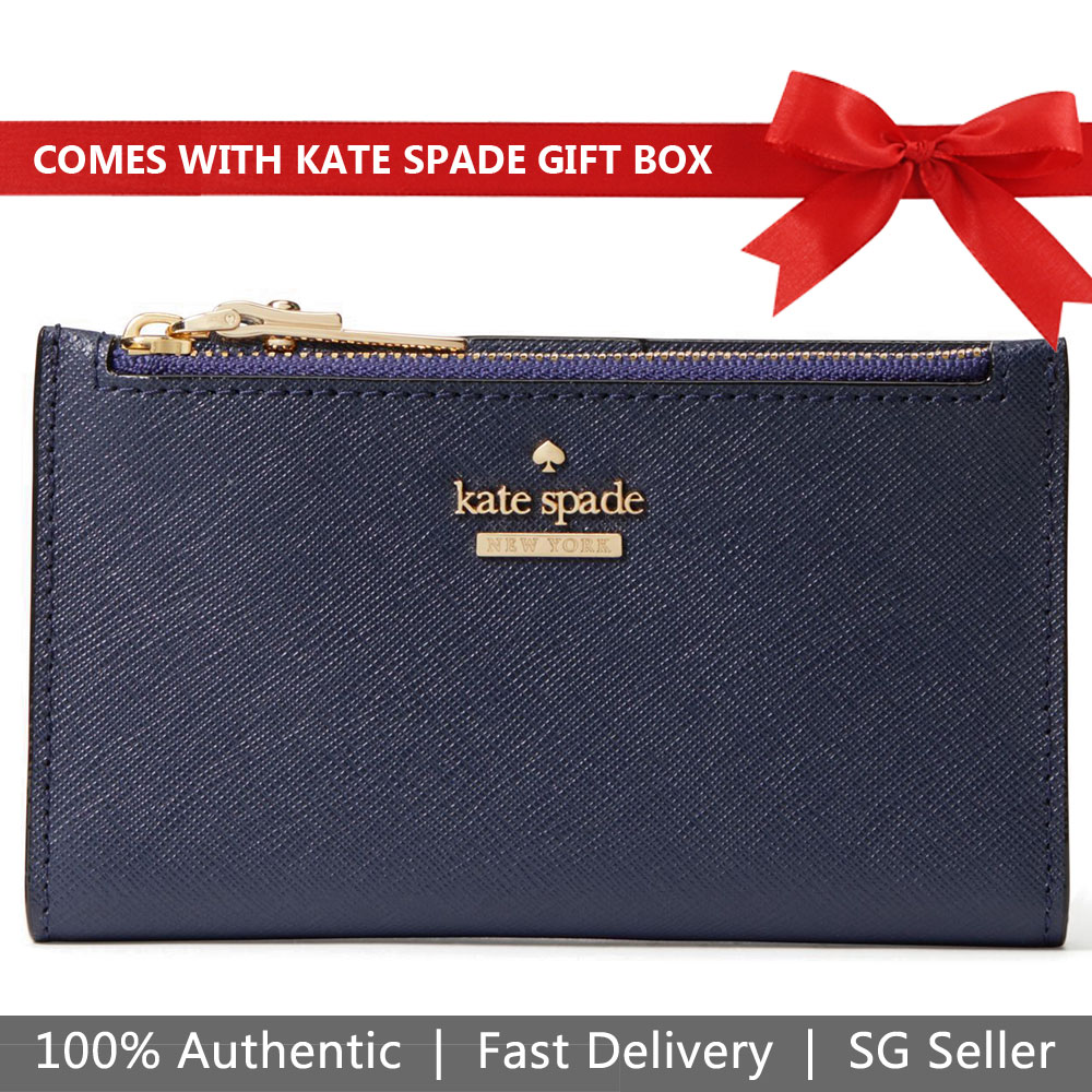 Kate Spade Wallet In Gift Box Small Wallet Cameron Street Mikey Blazer Blue # PWRU6720