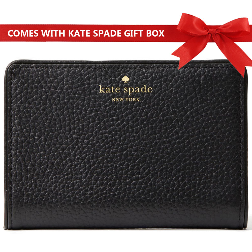 Kate Spade Wallet In Gift Box Small Wallet Chester Street Tellie Black # WLRU3047