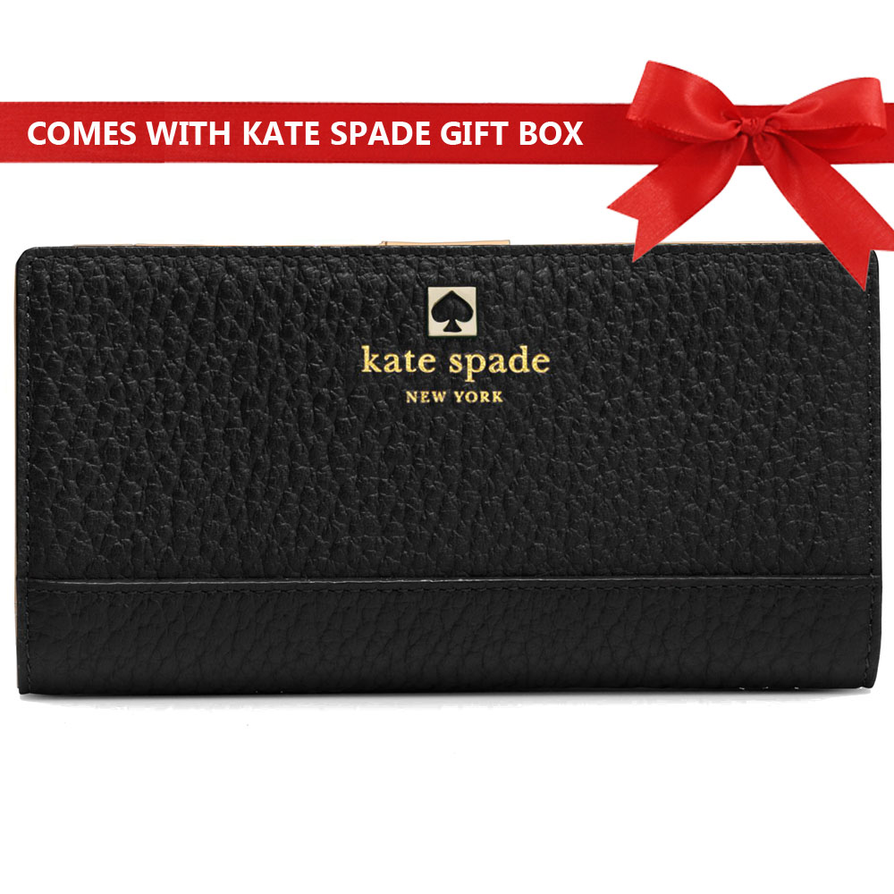 Kate Spade Wallet In Gift Box Southport Avenue Stacy Black # WLRU1394
