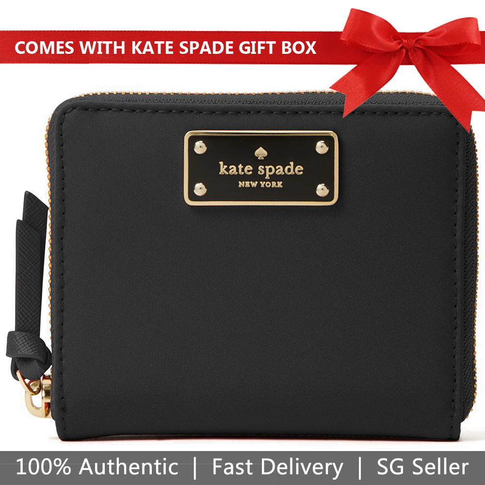 Kate Spade Wallet In Gift Box Wilson Road Darci Small Wallet Black # WLRU4898
