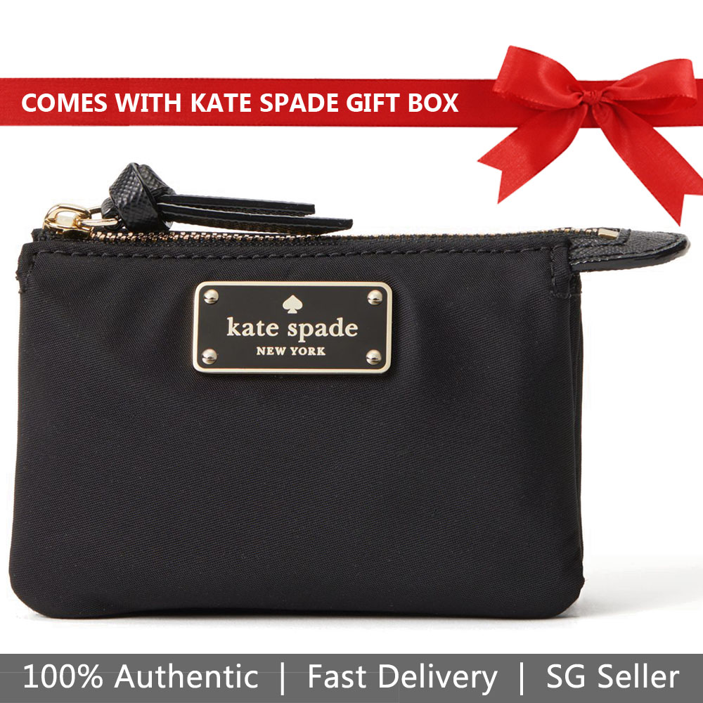 Kate Spade Wallet In Gift Box Wilson Road Mini Natasha Small Wallet Coin Pouch Black # WLRU4995
