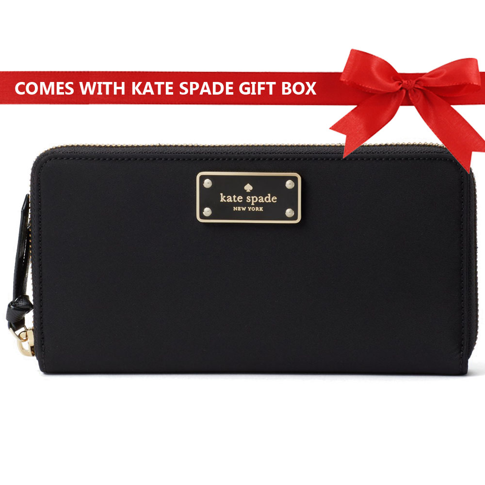 64e5530185 Kate Spade Wallet In Gift Box Wilson Road Neda Black   WLRU3329