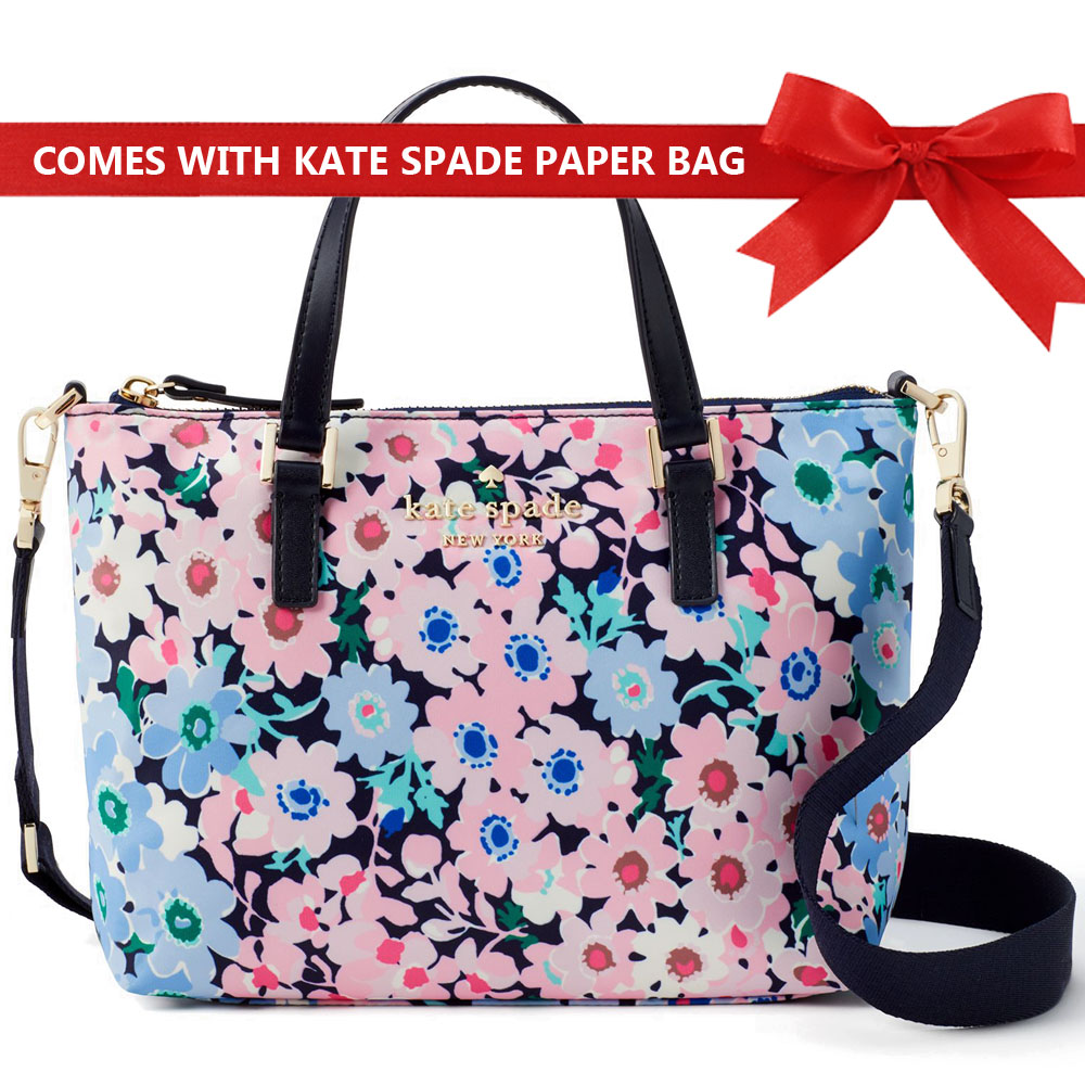 Kate Spade Wastson Lane Daisy Garden Lucie Crossbody Blue Pink Flowers Multi # PXRU9078