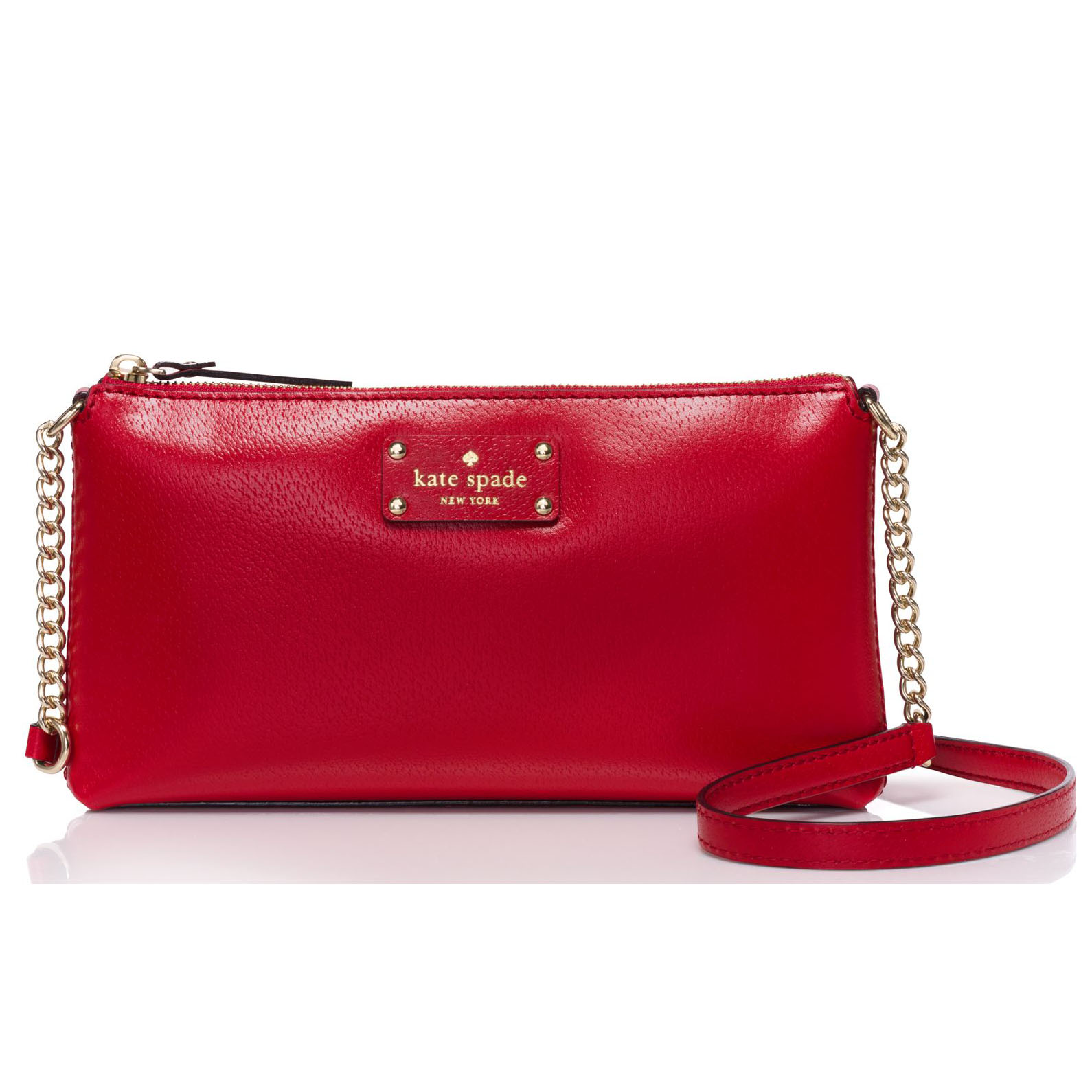 Kate Spade Wellesley Declan Crossbody Bag Pillbox Red # WKRU3488