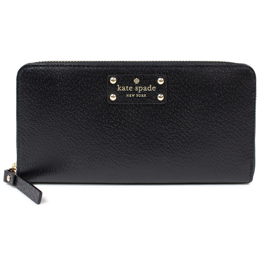 Kate Spade Wellesley Neda Zip Around Long Continental Wallet Black # WLRU1153