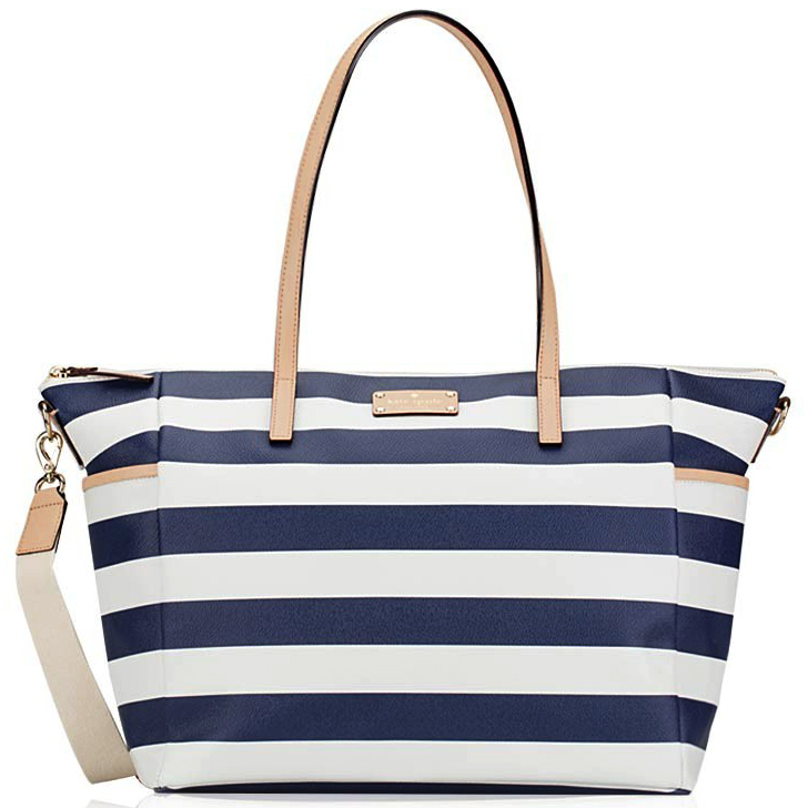 Kate Spade Wellesley Printed Adaira Baby Bag Cream / Navy Stripe # WKRU3862