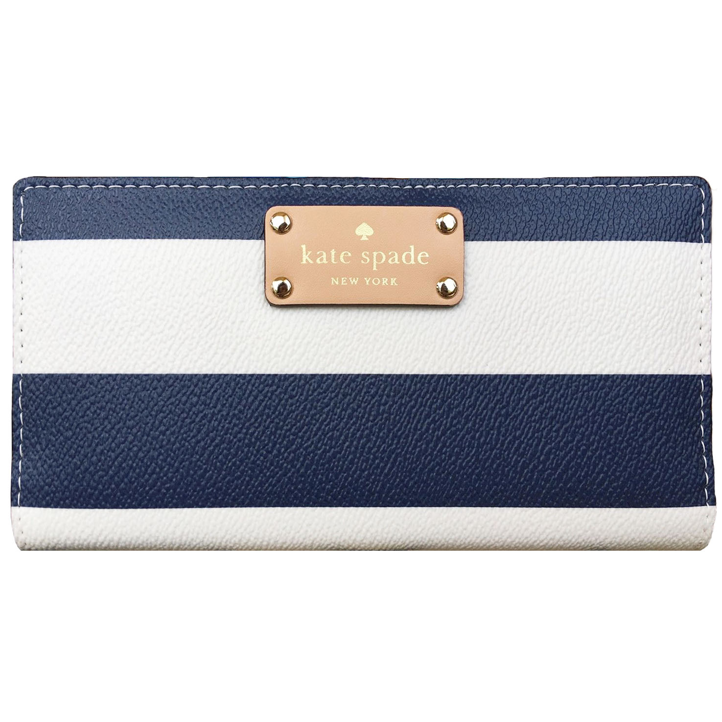 Kate Spade Wellesley Printed Stacy Navy / Cream Stripe # WLRU2531