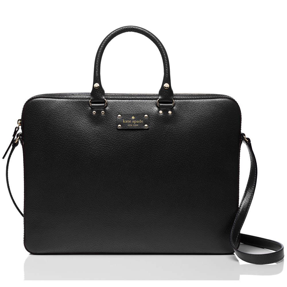 Kate Spade Wellesley Tanner Laptop Bag Shoulder Bag Black # WKRU1657