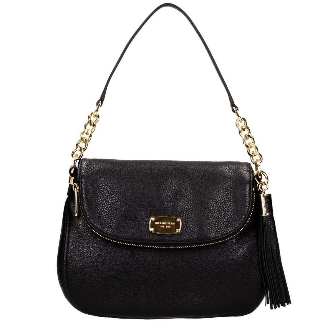 79526c14dc19 Michael Kors Bedford Medium Tassel Convertible Shoulder Bag Black #  35F5GBFL2L
