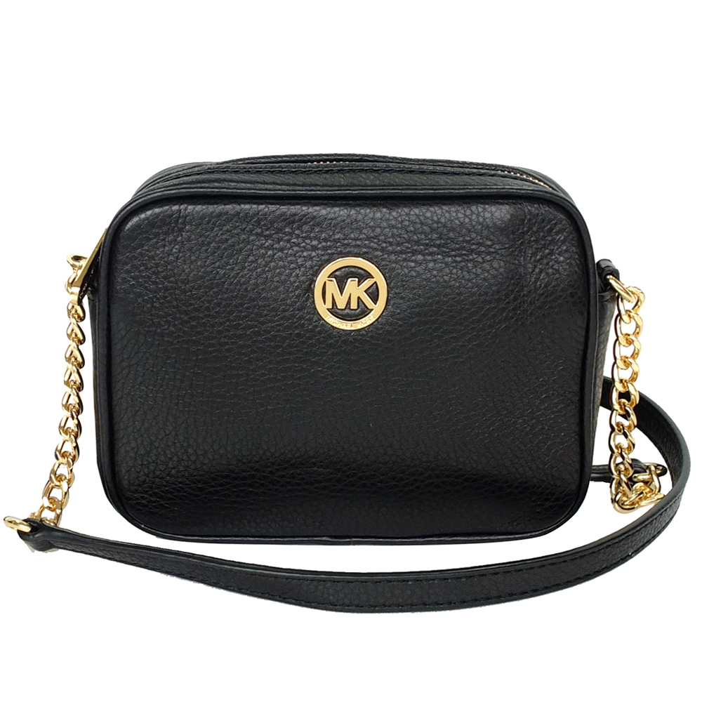 Michael Kors Fulton Leather Small Crossbody Bag Black 35t5gftc2l