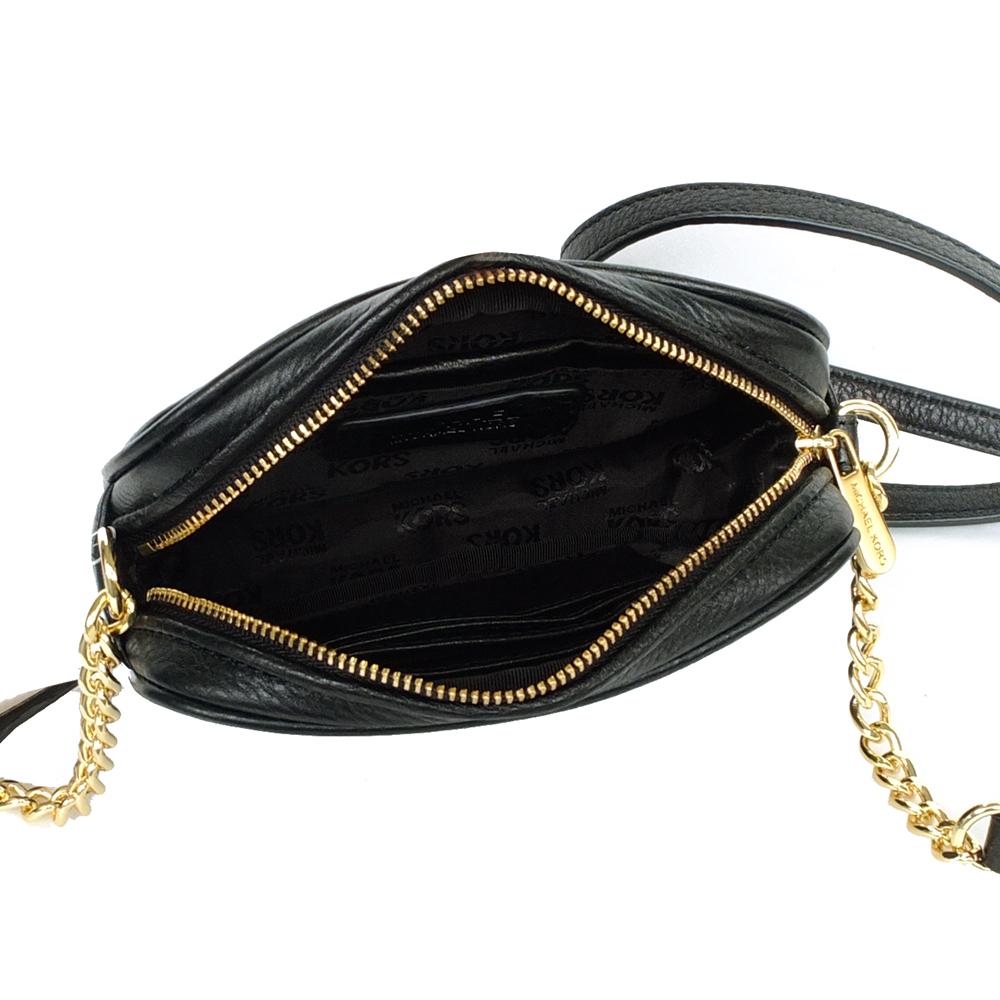 abe5e648c7f9 SpreeSuki - Michael Kors Fulton Leather Small Crossbody Bag Black ...