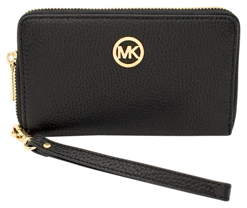 Michael Kors Fulton Multifunction Leather Wallet Phone Case Black # 35H5GFTE3L