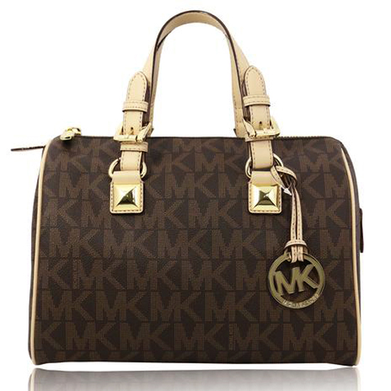 Michael Kors Grayson Signature Medium Satchel Brown # 35S5GGYS2B
