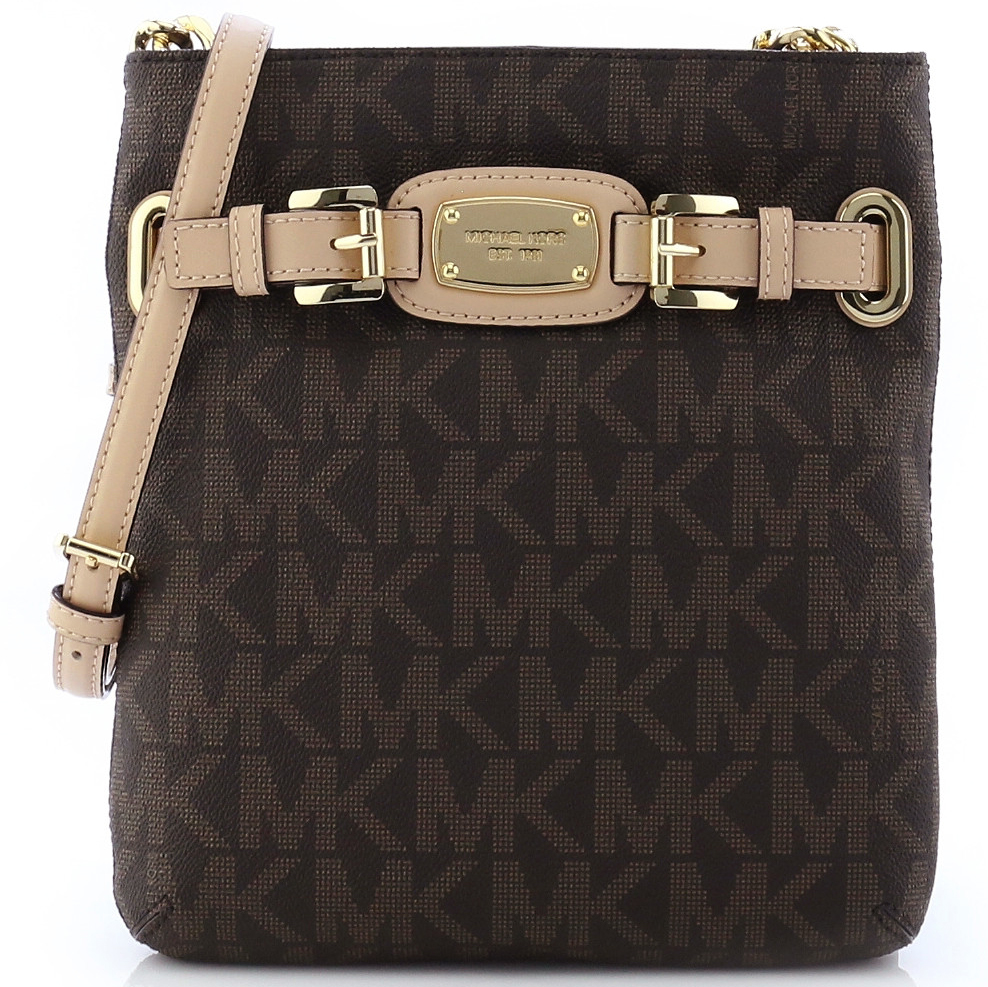 Michael Kors Hamilton Large Crossbody Bag Brown # 35F2GHMC3B