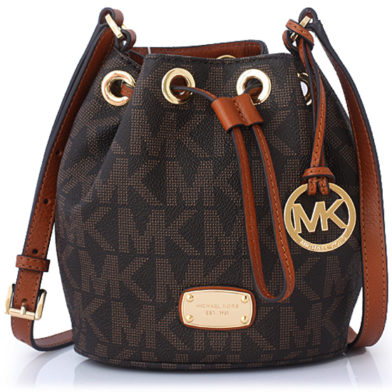 Michael Kors Jules Mini Drawstring Crossbody Bag Brown # 35H5GJLC3B