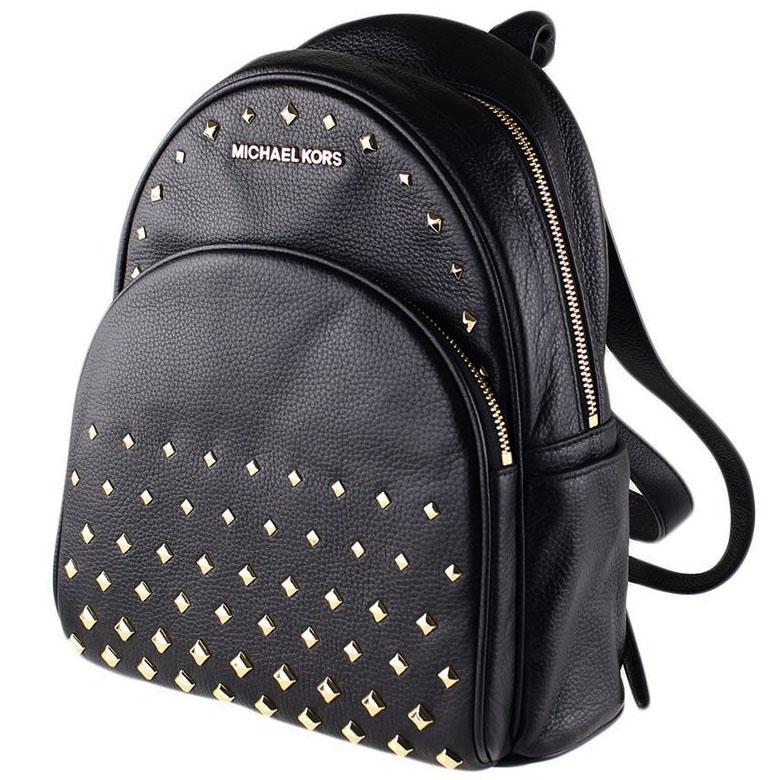 SpreeSuki - Michael Kors Abbey Medium Studded Leather Backpack Black ... a63c4f0c374c1