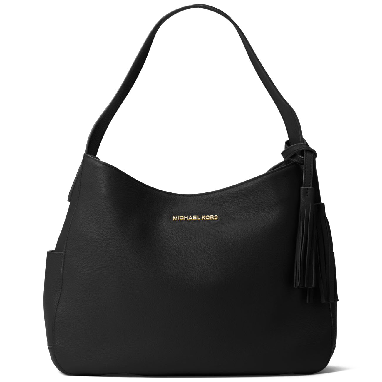Michael Kors Ashbury Large Slouchy Leather Shoulder Bag Black # 30T7GABL3L