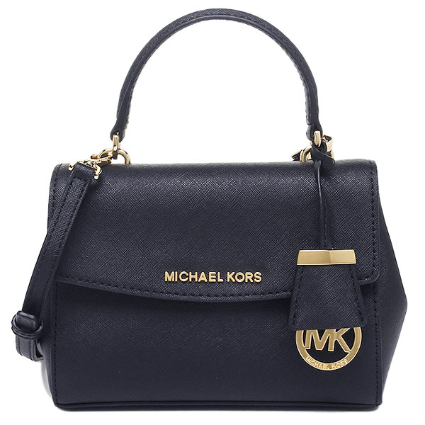 Michael Kors Ava Extra-Small Leather Crossbody Bag Navy Blue # 32F5GAVC1L